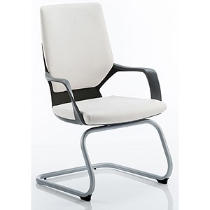 Image of Zenon Leather Visitor Chair - White