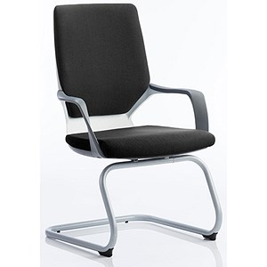 Image of Zenon Fabric Visitor Chair - Black