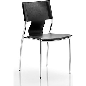 Image of Zulu Hard PVC Visitor Chair - Black