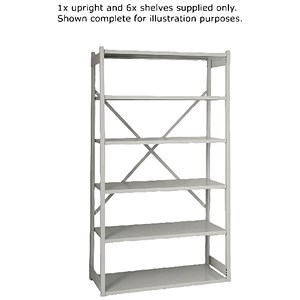 Image of Bisley Shelving Extension Kit / W1000 x D460mm / Grey