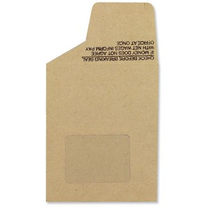 Image of New Guardian Wage Envelopes with Window / 121x98mm / Press Seal / Manilla / Pack of 1000