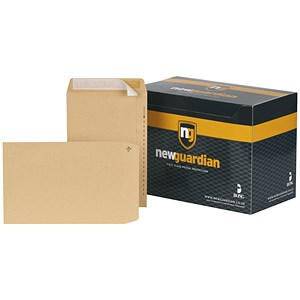 Image of New Guardian Heavyweight Pocket Envelopes / 10x7in / Manilla / Peel & Seal / Pack of 250