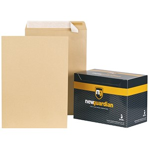 Image of New Guardian Heavyweight C3 Pocket Envelopes / Manilla / Peel & Seal / Pack of 125