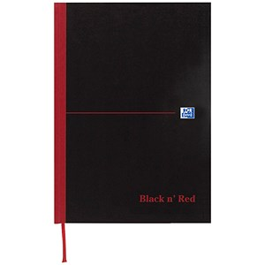 Image of Black n' Red Casebound Notebook / A6 / Ruled / 192 Pages / Pack of 5