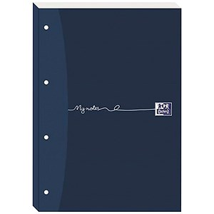 Image of Oxford MyNotes Sidebound Refill Pad / A4 / Ruled with Margin / 4 Holes / 200 Pages / Pack of 5