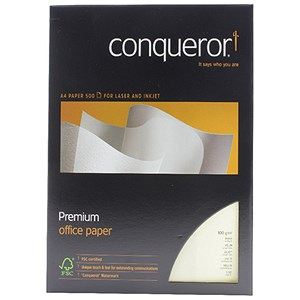Image of Conqueror A4 Smooth Wove Paper / Vellum / 100gsm / Ream (500 Sheets)