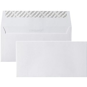 Image of Conqueror DL Envelopes / Wove / Brilliant White / Pack of 500