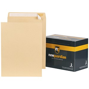 Image of New Guardian Heavyweight Pocket Envelopes / 406x305mm / Manilla / Peel & Seal / Pack of 125