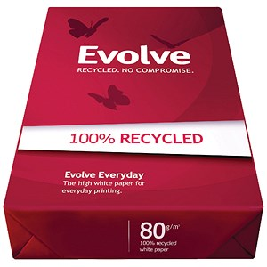 Image of Evolve A3 Everyday Recycled Paper / 80gsm / Ream (500 Sheets)