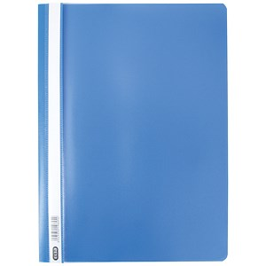 Image of Elba A4 Clearview Folders / Blue / Pack of 50
