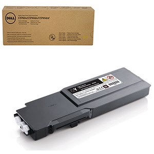 Image of Dell C3760/C3765 High Yield Yellow Laser Toner Cartridge