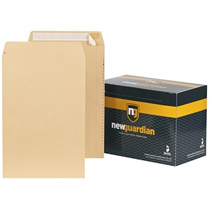 Image of New Guardian Heavyweight Pocket Envelopes / 381x254mm / Manilla / Peel & Seal / Pack of 125