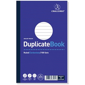Image of Challenge Carbonless Ruled Duplicate Book / 100 Sets / 210x130mm / Pack of 5