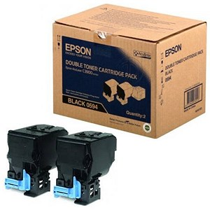 Image of Epson AcuLaser C3900N/CX37DN Black Laser Toner Cartridges (Twin Pack)