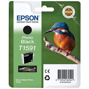 Image of Epson T1591 Photo Black UltraChrome Inkjet Cartridge