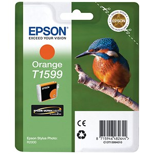 Image of Epson T1599 Orange UltraChrome Inkjet Cartridge