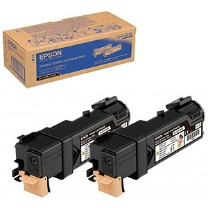 Image of Epson AcuLaser C2900N Black Laser Toner Cartridges (Twin Pack)