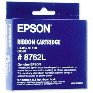 Image of Epson SIDM Black Ribbon Cartridge for LX-86/80/GX-80 (C13S015053)