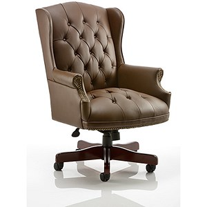 Image of Commoredore Leather Executive Chair - Brown