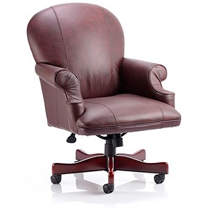 Image of Condor Leather Executive Chair - Burgundy