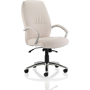 Image of Dune High Back Leather Executive Chair - White