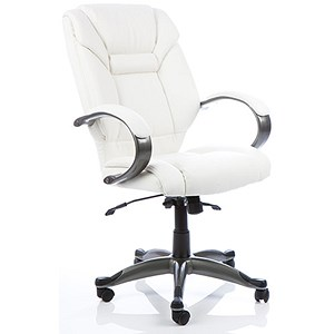 Image of Galloway Leather Executive Chair - White