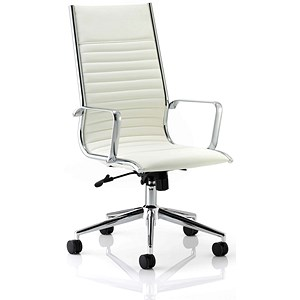 Image of Ritz Leather High Back Executive Chair - Ivory
