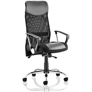 Image of Vegas Executive Leather & Mesh Chair - Black