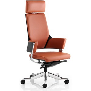 Image of Enterprise Leather Executive Chair- Tan