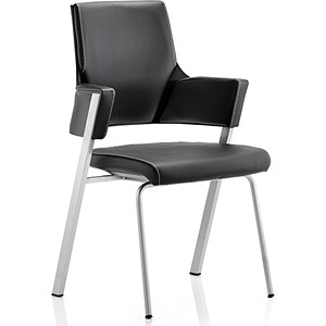 Image of Enterprise Leather Visitor Chair - Black