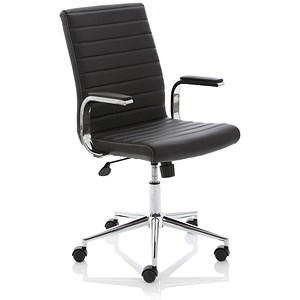 Image of Ezra Leather Executive Chair - Black