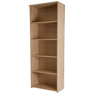 Image of Retro Tall Bookcase - Oak