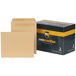 Image of New Guardian Heavyweight Pocket Envelopes / 270x216mm / Manilla / Press Seal / Pack of 250
