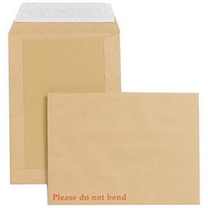 Image of New Guardian Heavyweight Board-backed Envelopes / 241x178mm / Peel & Seal / Manilla / Pack of 125