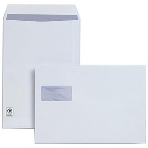 Image of Plus Fabric C4 Pocket Envelopes with Window / Peel & Seal / Horizontal 120gsm / White / Pack of 250