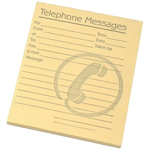 Image of Telephone Message Pad 80 Sheets 127x102mm Yellow Paper [Pack 10]