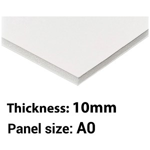 Image of Foamboard / A0 / White / 10mm Thick / Box of 5
