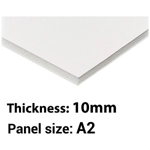 Image of Foamboard / A2 / White / 10mm Thick / Box of 10