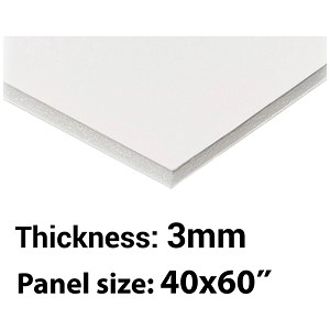 Image of Foamboard / 40'' x 60'' / White / 3mm Thick / Box of 35