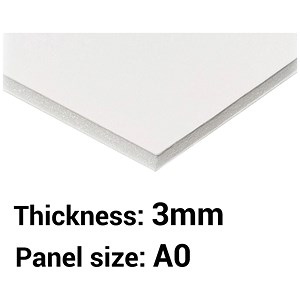 Image of Foamboard / A0 / White / 3mm Thick / Box of 15