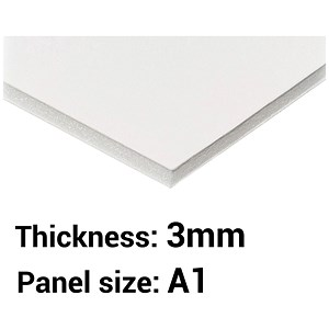 Image of Foamboard / A1 / White / 3mm Thick / Box of 15