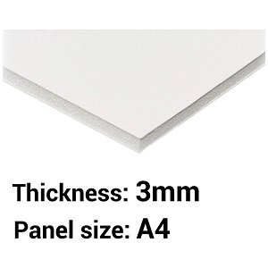 Image of Foamboard / A4 / White / 3mm Thick / Box of 30
