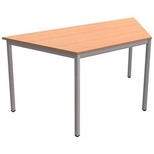 Image of Flexi Table / Trapezoidal / 1600 Wide / Beech