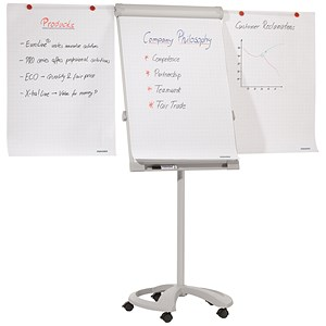 Image of Franken PRO Flipchart Deluxe / 2 Arm Extensions / Mobile / Magnetic