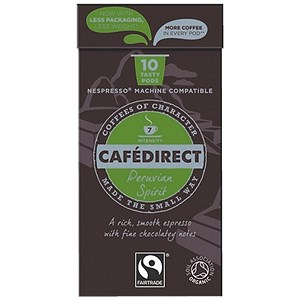 Image of Cafedirect Nespresso Compatible Coffee Pods / Peruvian Spirit / Pack of 100