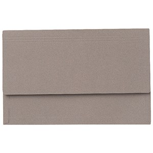 Image of Guildhall 3/4 Flap Legal Document Wallets / Grey / Pack of 25