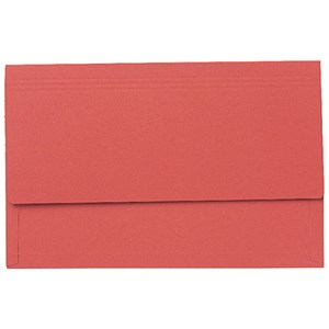 Image of Guildhall 3/4 Flap Legal Document Wallets / Red / Pack of 25