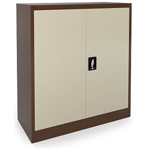 Image of Graviti Contract Low Storage Cupboard - Coffee & Cream
