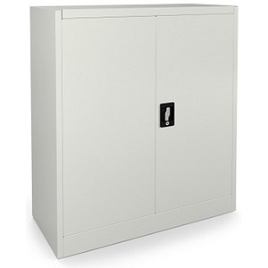 Image of Graviti Contract Low Storage Cupboard - Chalk White