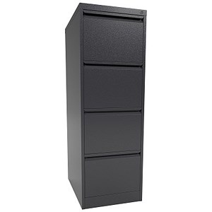 Image of Graviti Contract Filing Cabinet / 4-Drawer / Foolscap / Black